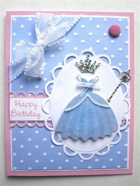 handmade princess birthday card  young girl