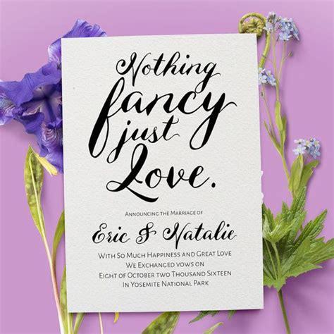 fancy  love elopement card  married card