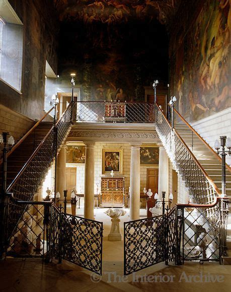 burghley house grand staircase with gates stairs in