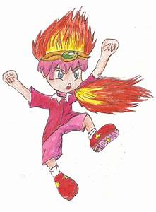 fire human kirby paper child by iscastanon on DeviantArt