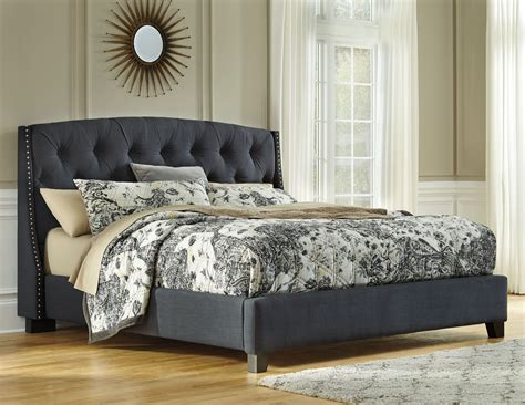 King Upholstery by Kasidon Gray Cal King Upholstered Platform Bed From