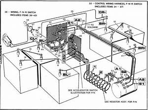 1987 Ez Go Golf Cart Wiring Diagram In 2020