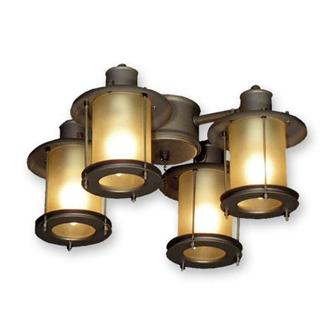 3 light ceiling fan light kit 450 rustic mission styled outdoor ceiling fan light kit