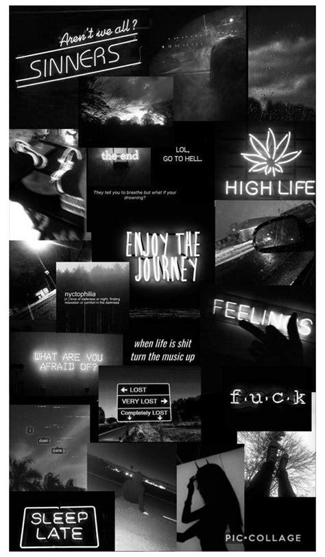 wallpaper black aesthetic collage