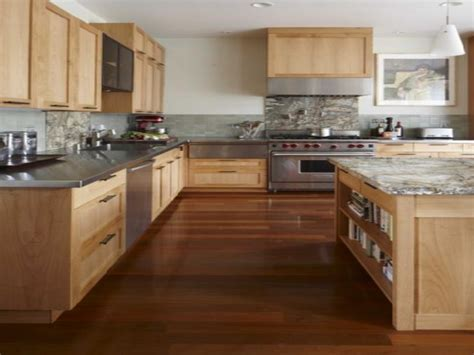 hardwood flooring cabinets kitchen paint ideas with oak cabinets and black appliances