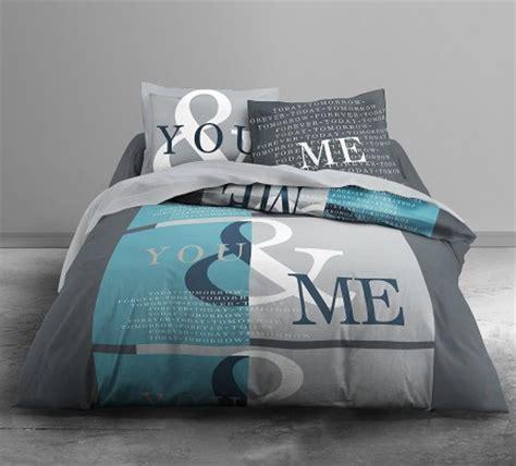 chambre ado bleu housse de couette ado adolescent linge de lit housse