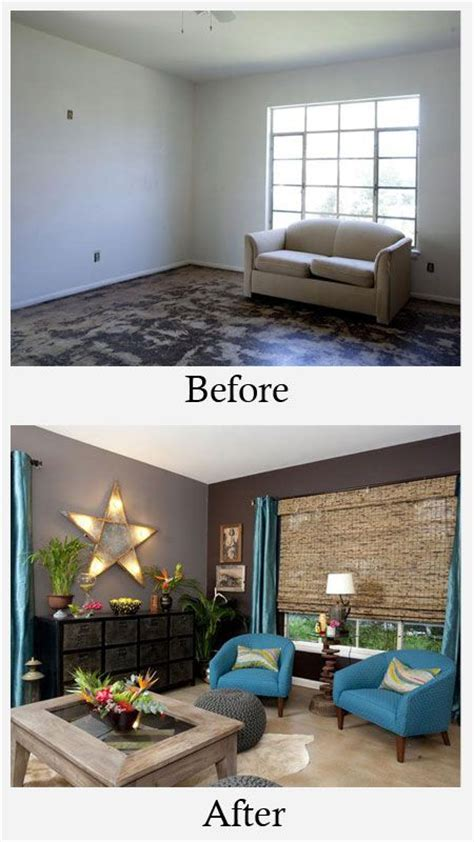 floor l makeover living room makeovers before and after white walls and unfinished cement floors did nothing