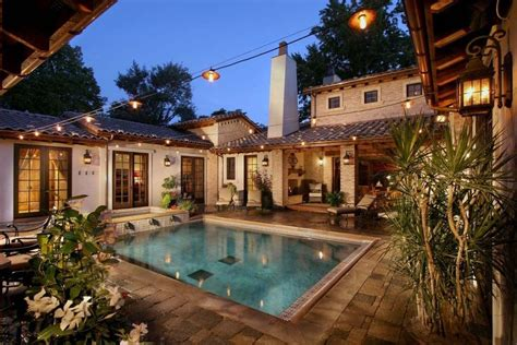 central courtyard house plans  pool home decorating ideas courtyard house plans pool