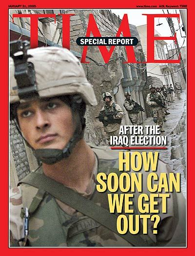 Time Magazine Cover Iraq How Soon Can We Get Out? Jan