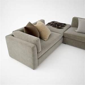 busnelli oh mar corner sectional sofa 3d model max obj With sectional sofa 3d model