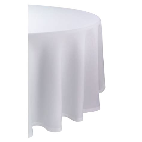 round white table cloth essential home 70in round white tablecloth home dining