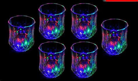 24 Light-up Shot Glasses Led Flashing Drinking Blinking