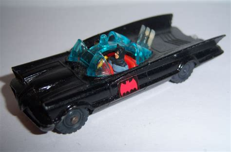 VINTAGE HUSKEY 1966 BATMOBILE Batman ROBIN Diecast Toy Car ...