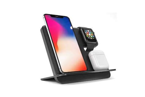 icombostand qi wireless charging station  iphone apple