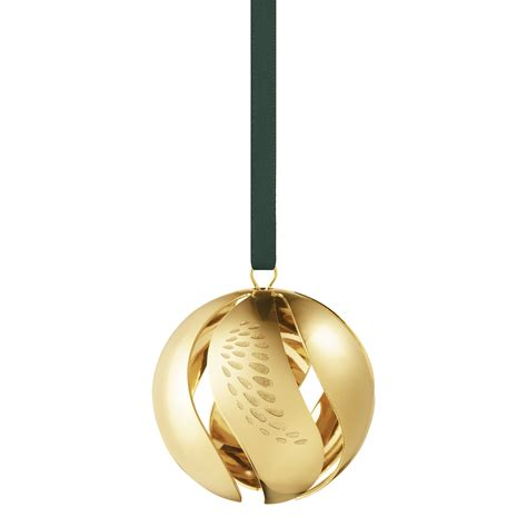 christmas ball gold plated christmas ornament