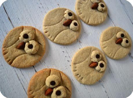 eulen cookies mit hafer orange