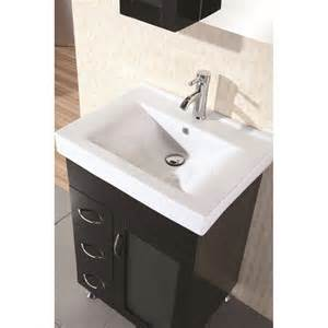 design element bathroom vanities design element oslo 24 quot modern single sink bathroom vanity dec022 at discountbathroomvanities