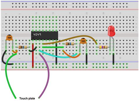 How Build Touch Off Circuit With Inverter Chip