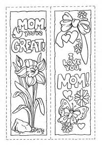free coloring pages of bookmark