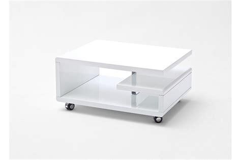 table basse blanc laqué pas cher table basse blanc laqu 233 sur roulettes cbc meubles