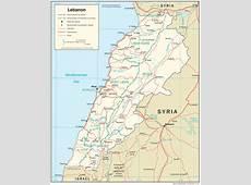 Lebanon Maps PerryCastañeda Map Collection UT Library
