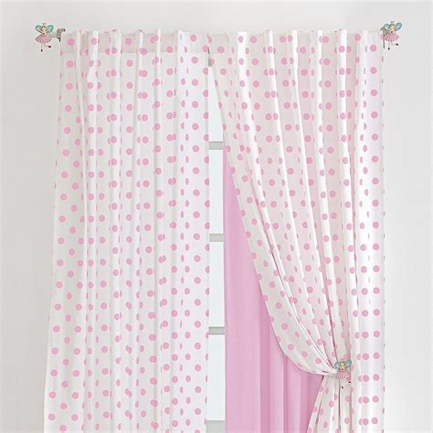 pink polka dot curtain pretty in pink
