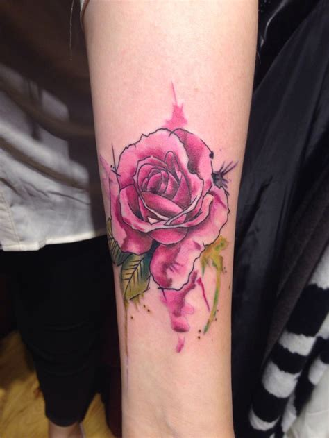 watercolor rose tattoo designs ideas  meaning