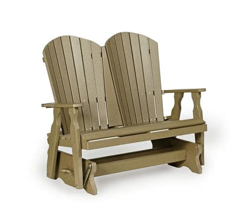 furniture for small bedrooms poly fan back glider bench from dutchcrafters amish furniture 15366