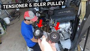Serpentine Belt Tensioner Idler Pulley Replacement Removal