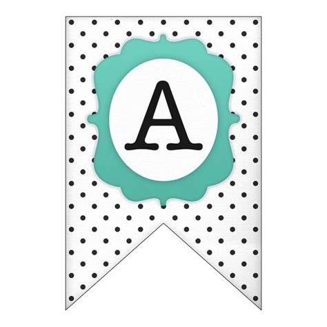 printable polka dot banner set punctuation