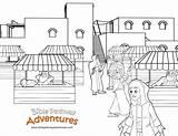 Coloring Passover Market Temple Pages Template Bible Pathway Adventures Herods Sketch Jerusalem Activities Biblepathwayadventures January Cp sketch template