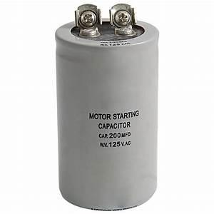 Ac 125v 200uf 200mfd 2 Terminals Motor Run Start Capacitor