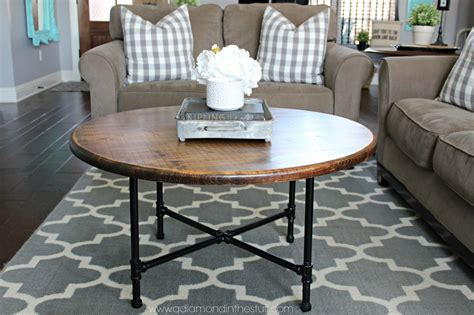 Even if you've never built anything before, this is so simple that almost anyone can do it. DIY Round Industrial Coffee Table   Round industrial coffee table, Round coffee table diy ...