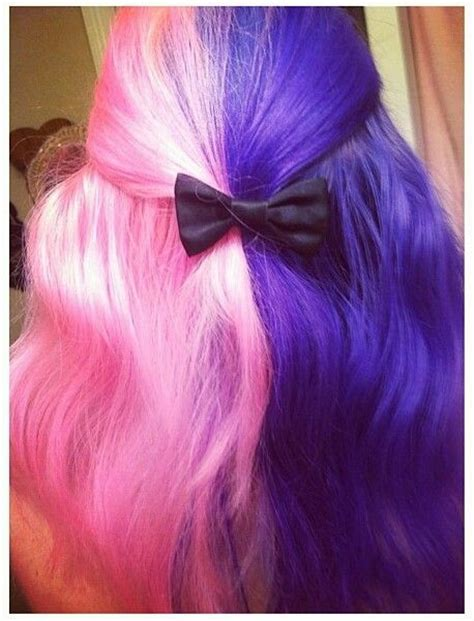Half Pink Half Purple Vibrant Cotton Candy Hair Hair