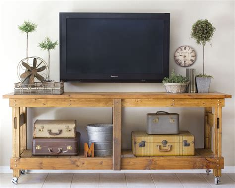 tv console decorating ideas remodelaholic 95 ways to hide or decorate around the tv electronics and cords