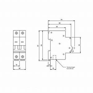 europa euc2p16c 16amp type c 10ka double pole mcb at uk With hager 2 pole circuit breakers types related to miniature circuit