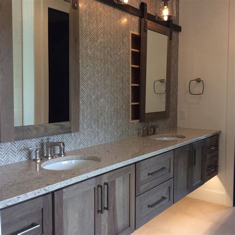 master bath vanity cabinets master bath in hickory with morel stain cambria darlington
