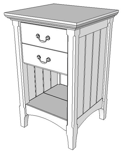 cherry bedside table shop drawings popular woodworking