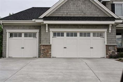 White Garage Doors by Residential White Carriage Garage Doors With Top Windows