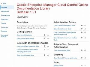 get started with enterprise manager cloud control With oracle document management cloud