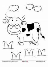 Cow Coloring Worksheet Field Downloaded Pdf sketch template