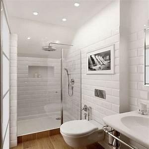 Douche Petit Espace : petite salle de bain hyper bien am nag e deco cool ~ Voncanada.com Idées de Décoration