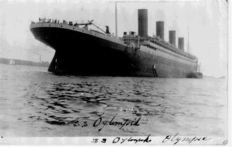 rms olympic sinking rms olympic white line