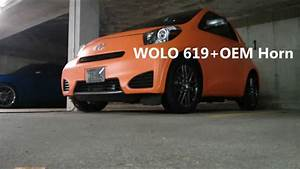 2012 Scion Iq Oem Horn Vs Wolo 619 Air Horn Plus Oem Horn