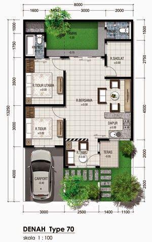 denah rumah minimalis type lantai denah type house