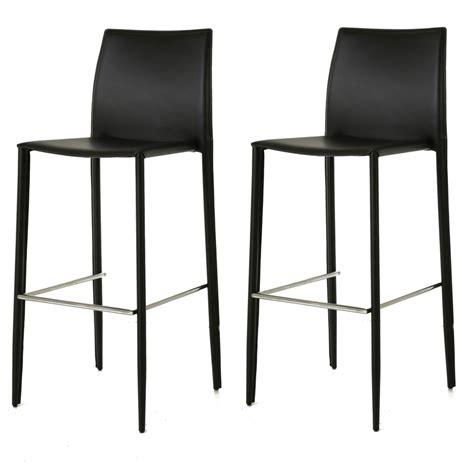 chaise de bar noir lot de 2 chaises de bar simili cuir noir zago
