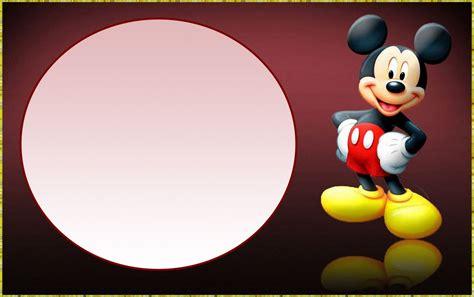 mickey mouse  printable invitation templates