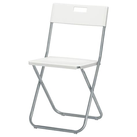 ikea chaises pliantes gunde folding chair white ikea