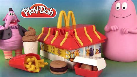 cuisine mcdonald jouet play doh mcdonald s restaurant playset pâte à modeler hamburgers frites mcnuggets barbapapa