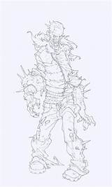 Character Concept Drawing Edouardguiton sketch template